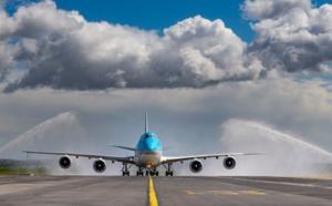 Le Boeing 747-8i de Korean Air se pose à Paris CDG
