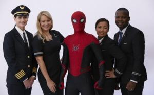 Spider-Man monte à bord des avions United Airlines
