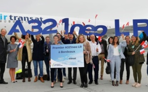 Air Transat : l'A321neoLR se pose à Bordeaux