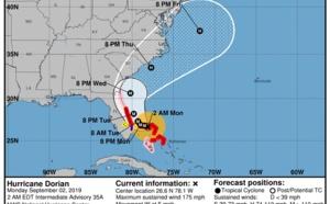 Dorian : après les Bahamas, l'ouragan de catégorie 5 se dirige vers les USA