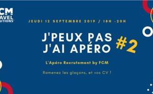 """FCM Travel organise un nouvel """"Apéro Recrutement"""" en septembre 2019"""