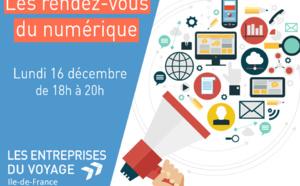 """Les Entreprise du Voyages Ile-de-France lancent """"Les Rendez-Vous du Numérique"""""""