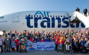 Air Transat embarque 50 enfants à la recherche du Père Noël