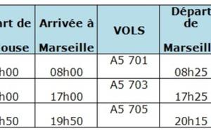 Airlinair : ouverture d'une liaison Toulouse-Marseille le 28 mai 2012