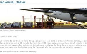"""Tahiti : le site de l'aéroport annonce le crash du jet de Nicolas """"Sarkosy"""""""