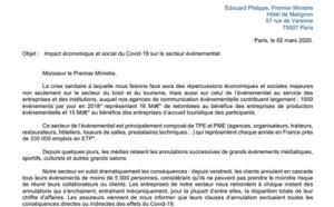 Coronavirus : l'association des pros de l'événementiel écrit au 1er ministre