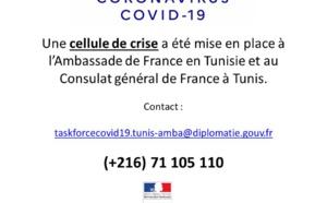 Tunisie : l'Ambassade de France met en place une cellule de crise