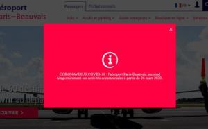 L'aéroport de Beauvais ferme ses portes dès le 26 mars 2020