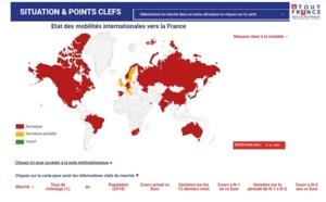 Atout France : une carte interactive sur les marchés internationaux pour anticiper la reprise