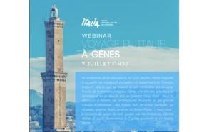 L'Office du tourisme italien propose un webinar sur Gênes (Italie) le 7 juillet 2020