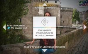 Voyages-sncf.com lance sa première application pour télévision interactive