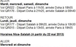 Oman : Qatar Airways volera vers Salalah dès le 22 mai 2013