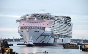 Royal Caribbean : à Saint-Nazaire, première mise à l'eau pour le Wonder of the Seas