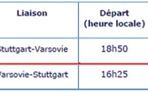 LOT Polish Airlines vole entre Stuttgart et Varsovie