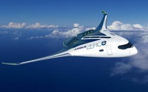 """Hydrogène : Airbus présente ses concepts des premiers avions commerciaux """"zéro émission"""""""