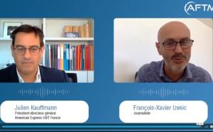 """Julien Kauffmann (Amex GBT France) : """"Nous tablons sur une activité à 50% pour 2021"""" (Video AFTM)"""