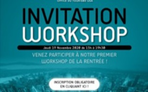 Office du Tourisme des Etats-Unis : workshop à Paris le 19 novembre 2020
