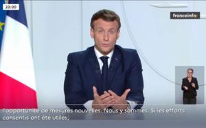 Emmanuel Macron annonce un confinement dès vendredi sur l'ensemble du territoire national