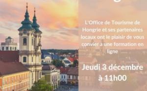 L'Office de tourisme de Hongrie : webinaire le 3 décembre 2020