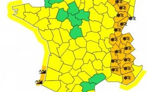 Météo France : 17 départements de l'Est et 2 de l'Ouest en vigilance orange