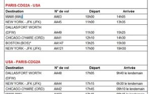 American Airlines adapte ses horaires aux passagers affaires pour l'Été 2013
