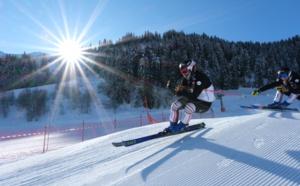 Arêches-Beaufort (Savoie) : l'équipe de France de skicross s'entraîne pour la Coupe du Monde