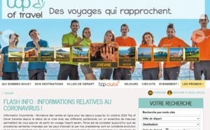 Le site web de Top of travel - DR