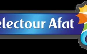 Selectour Afat : le graphisme de la nouvelle marque table sur couleur et design