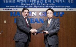 Korean Air et Myanmar Airways International signent un accord de code share