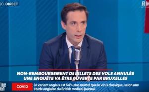 """Avoirs : """"Jean-Baptiste Djebbari n'a jamais dit que l'Etat ne s'interdit pas de rembourser"""" selon son cabinet"""