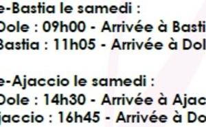 IGavion : vols vers Bastia et Ajaccio depuis Dole Jura dès le 22 juin 2013