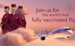 Qatar Airways : le 1er vol au monde avec 100% des passagers vaccinés