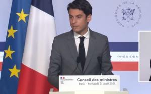 """Déplacement, terrasses, culture : """"le calendrier fixé par Emmanuel Macron sert de base de travail"""" confirme Gabriel Attal"""
