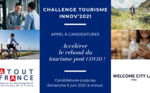 """Atout France : appel à candidatures """"Challenge tourisme Innov'2021"""""""