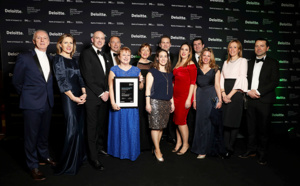 L'équipe d'Abbey Group recevant le prix Deloitte Best Managed Companies en 2019