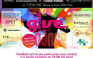 """""""Tour Managers""""/Give and Dance : CEDIV rejoint les partenaires de la  soirée Top Resa"""