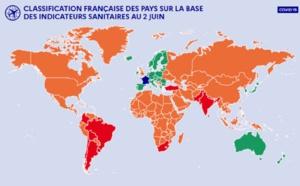 Pays verts, orange et rouges : USA et Canada en vert, Turquie en orange