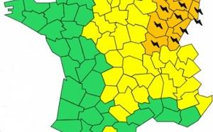 Orages : 13 départements de l'Est toujours en vigilance orange