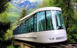 Le funiculaire permet depuis Bourg Saint Maurice un accès en 7 minutes à la station d'Arc 1600 - DR : Les Arcs