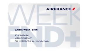 Les trois cartes de réduction d'Air France sont proposées au tarif unitaire de 49 euros - Air France