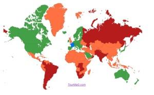 Pays verts, orange et rouge : quels sont les trois nouveaux pays en rouge ?
