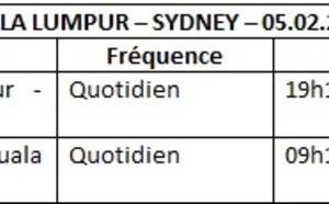 Malaysia Airlines : 4 fréquences hebdo supplémentaires sur Sydney-Kuala Lumpur