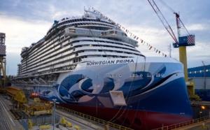 Norwegian Cruise Line : mise à l'eau du Norwegian Prima