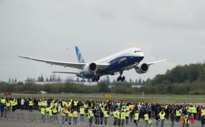 Boeing : premier vol d'essai réussi pour le B787-9 Dreamliner