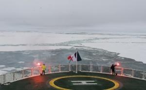 Le Commandant Charcot, premier paquebot français à atteindre le pôle Nord géographique