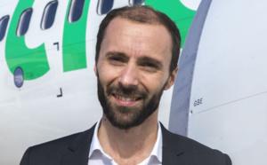 """Nicolas Hénin (Transavia) : """"La segment «""""affaires"""" représente 20% de nos passagers sur le réseau domestique (chiffre mesuré en juin). Les comportements évoluent et cette clientèle change ses habitudes en utilisant les Low Cost sur le marché français."""" - Photo DR"""