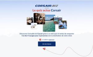 Corsair fait gagner 4 lots de 2 billets d'avion