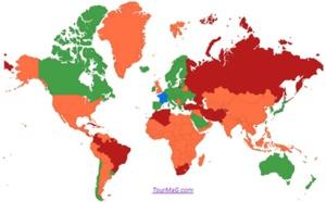 Indonésie, Namibie, Guyane : huit pays passent du rouge au orange