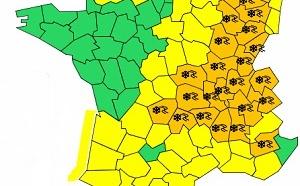 Météo France : 15 départements en vigilance orange