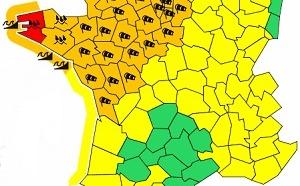 Météo France : 1 département en alerte rouge et 28 en vigilance orange